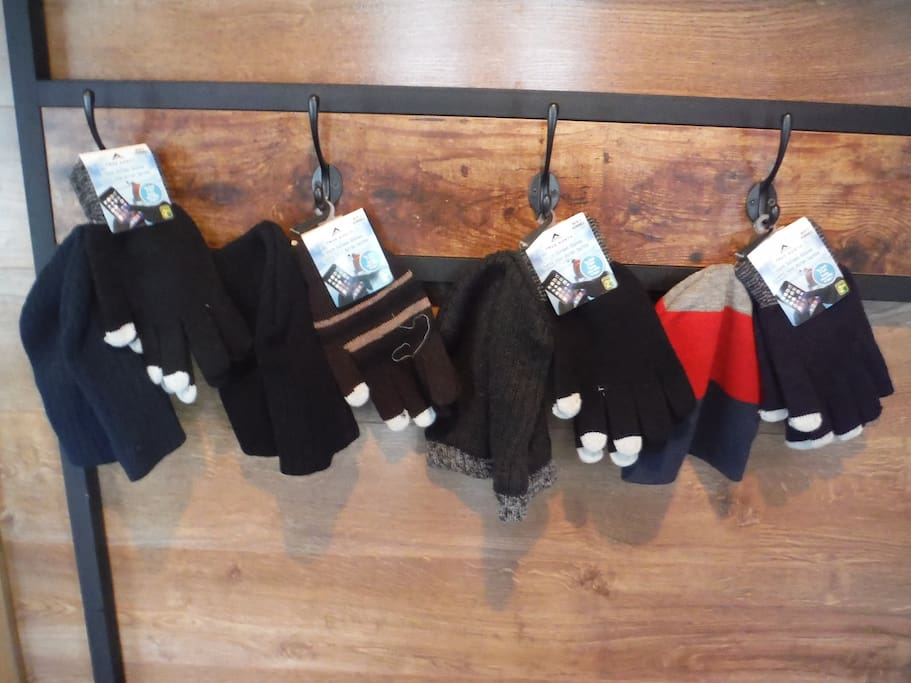 Gloves and hats at the entrance, in case you forgot your own