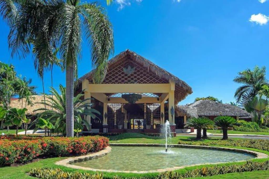 Entrada al Resort Marien
