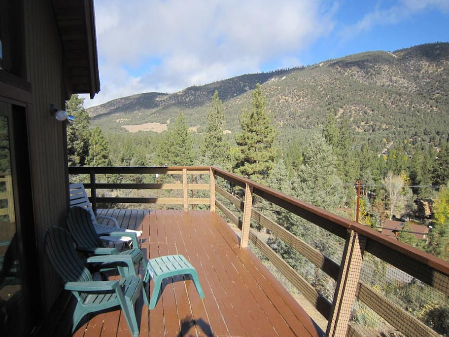 Gorgeous views from the deck - we have a new porch swing too!