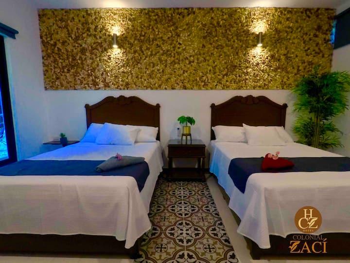 Hotel Colonial Zaci-Habitación Familiar Deluxe V