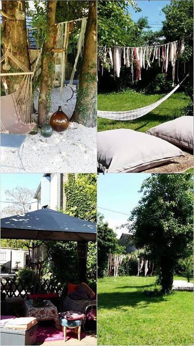 espace extérieur jardin