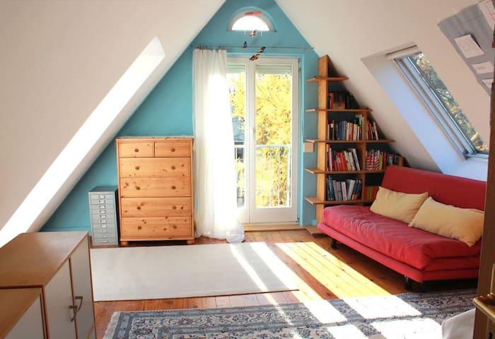 Zimmer in ruhiger, grüner Umgebung