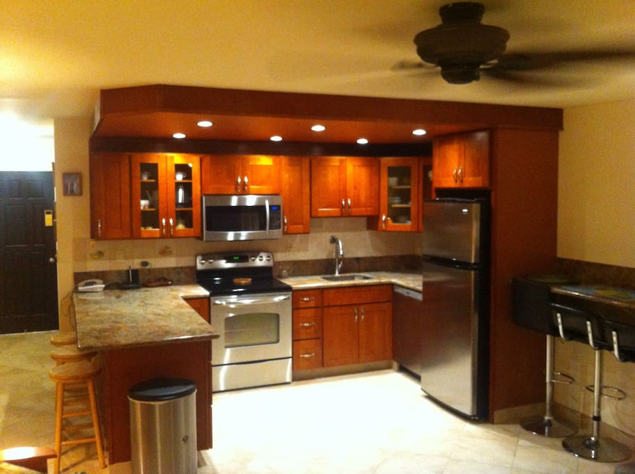 Recently renovated with granite & stainless steel appliances.