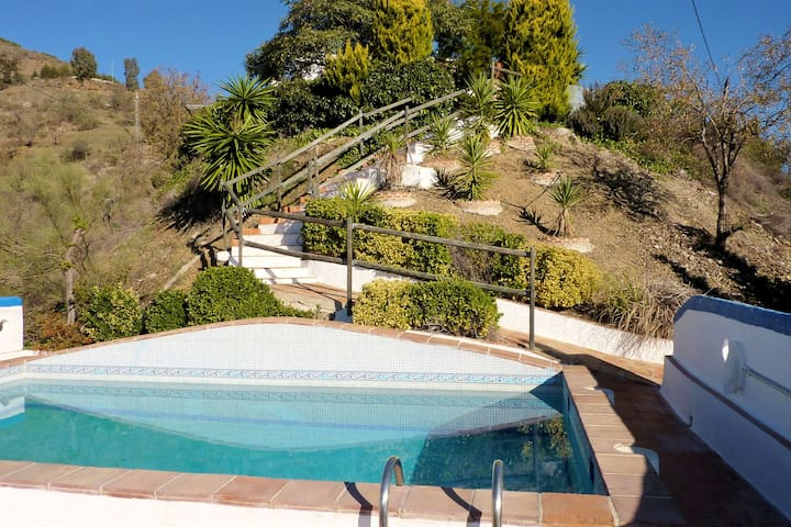 Spacious holiday home with private pool, in the mountain and with beautiful view