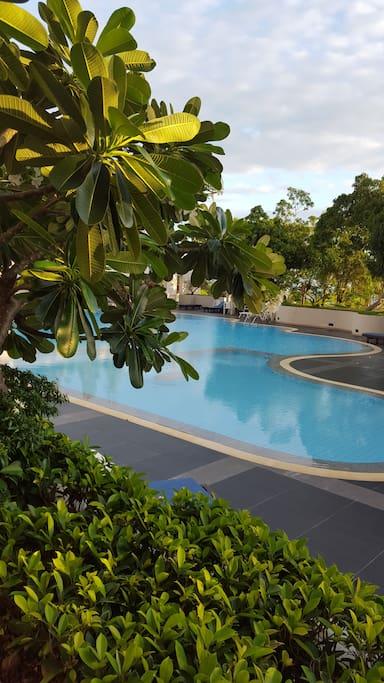 美丽游泳池