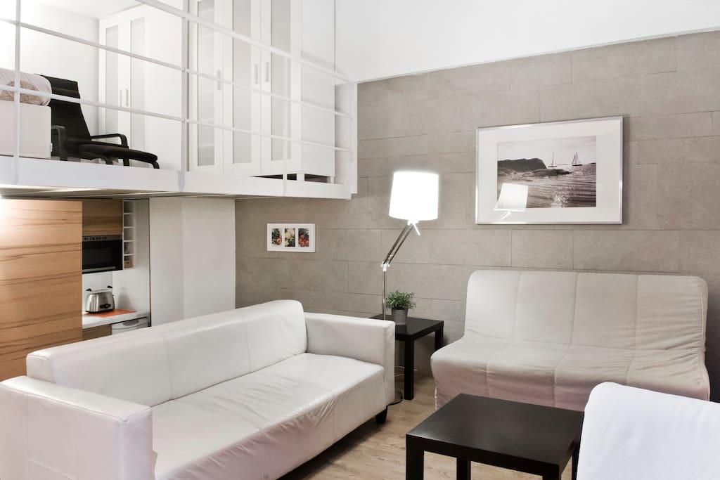 Apartamento loft 6en el centro for4 apartamentos en alquiler en m laga andaluc a espa a - Apartamento en malaga centro ...