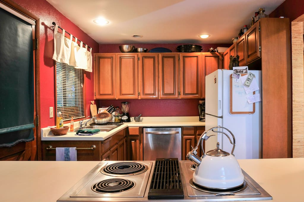 Cook up something delicious while staying close to the fun with the open kitchen.