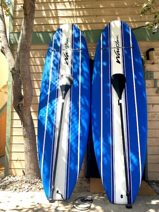 Hit the bay and take out the paddle boards