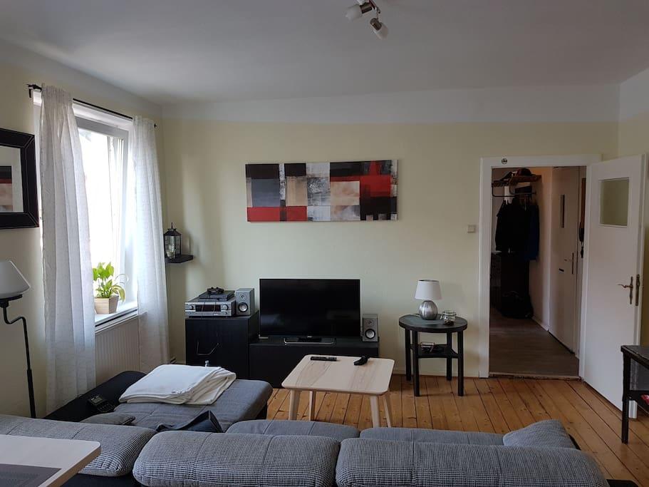 living room + smart TV