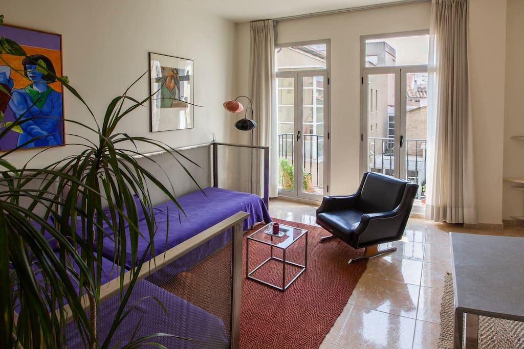 livingroom & balcony window
