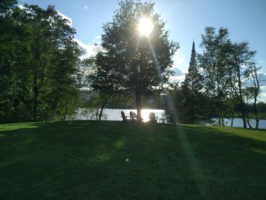 Sunset on the Mirror lake- great time to relax, kayak, or read