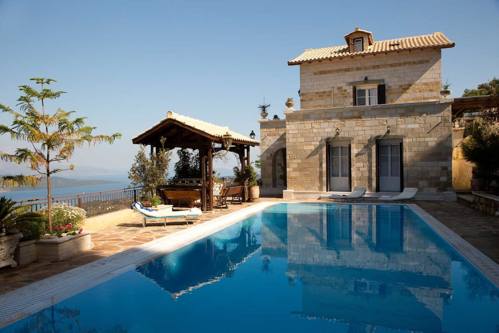 Stone-made villa with stunning landscape view
