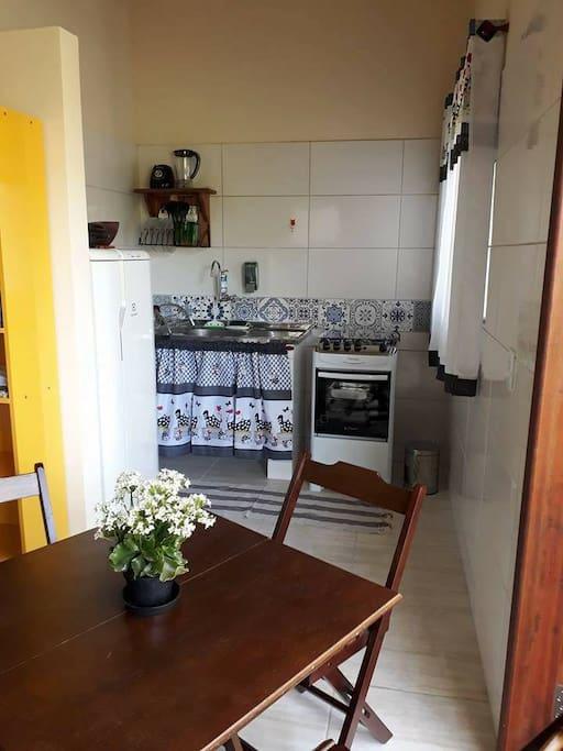 Cozinha do chalé Amora Amoreira