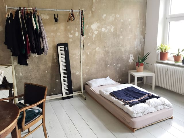 small sunny apartment, fourth floor
