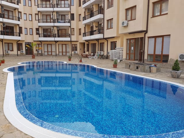 Ground Floor 2 Bed Apartment that opens directly onto the swimming pool.