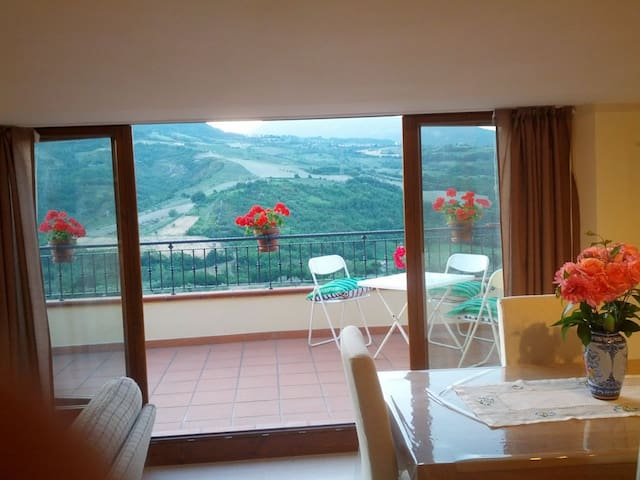 Attic with panoramic terrace. - Valle San Giovanni - Daire