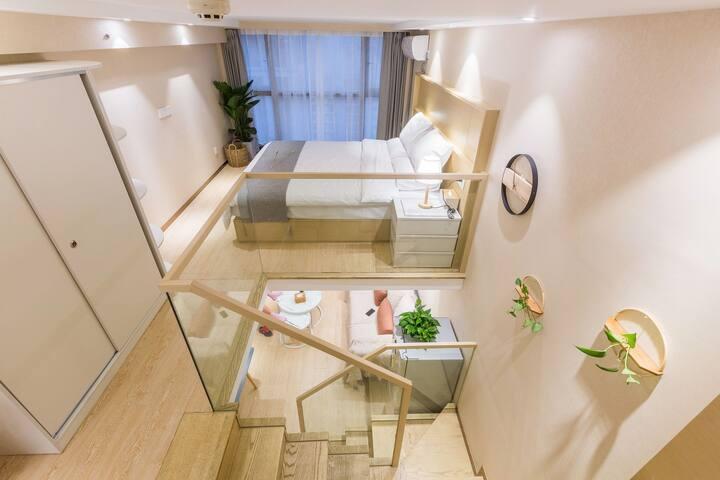 浙大旁loft公寓,日式简约风、地铁旁 城西银泰