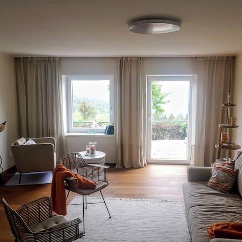 Wohnzimmer mit zusätzliche Schlafcouch