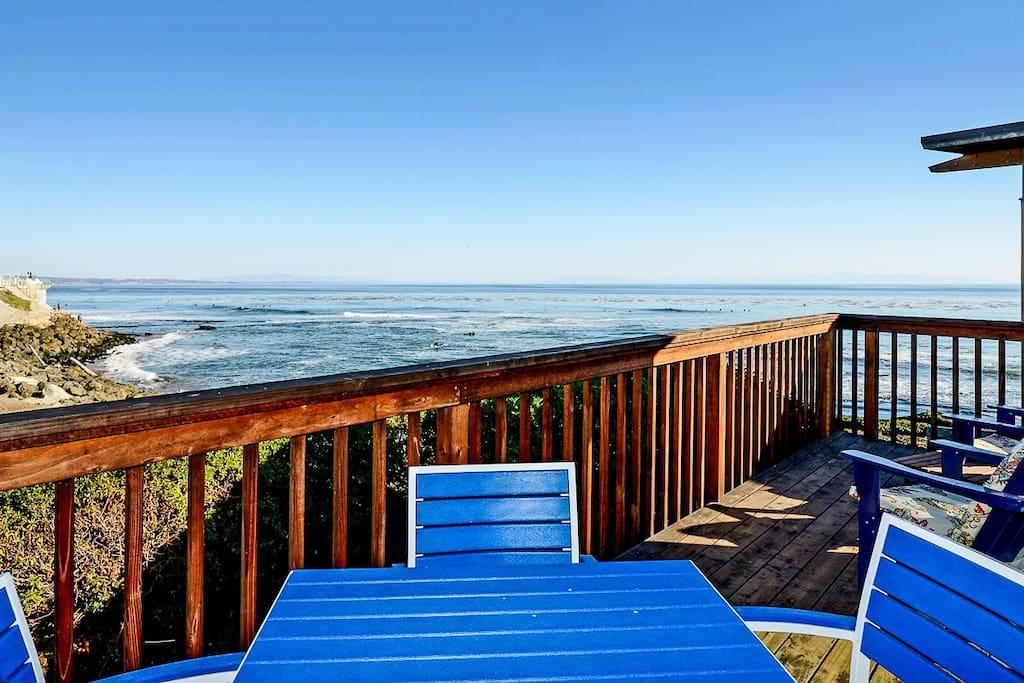 Amazing ocean view deck
