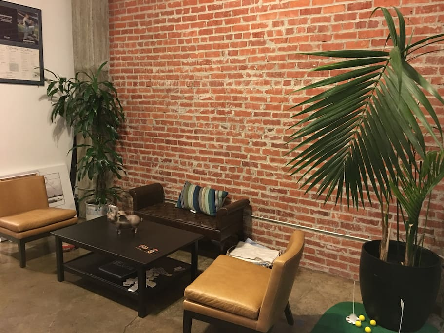 nook for hanging out – read, chat, pontificate, sip a beverage, count the bricks... whatever you're into