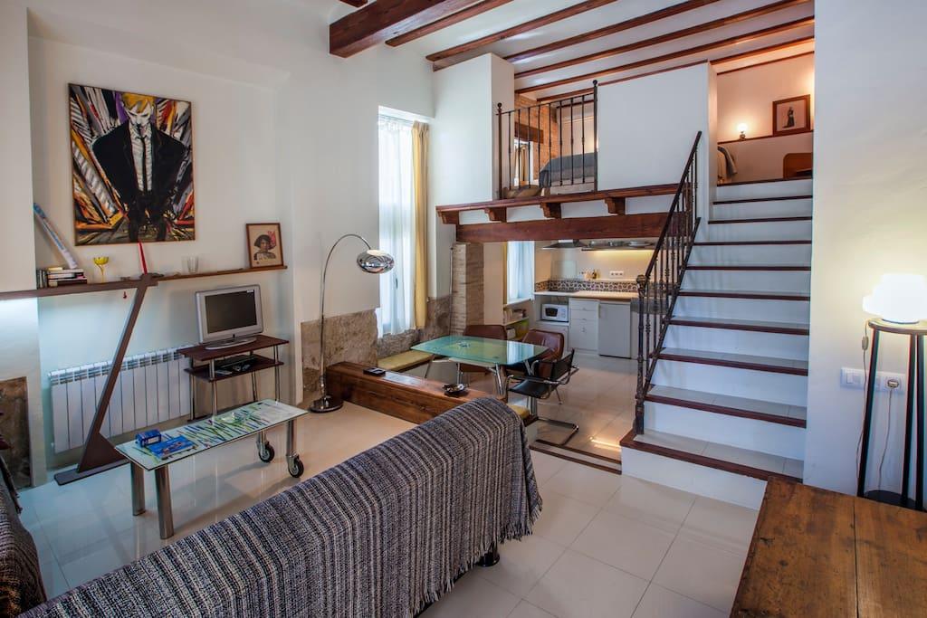 Cozy and intimate loft valencia flats for rent in - Loft valencia ...