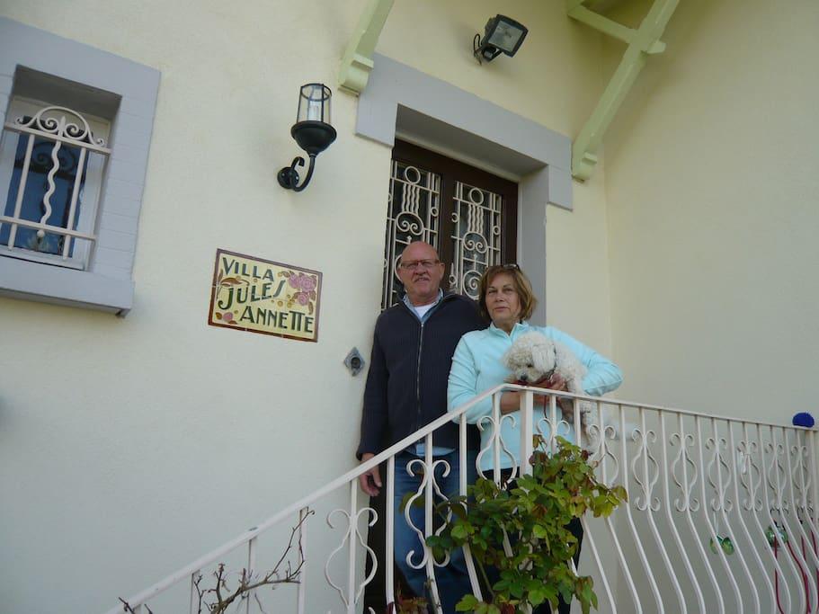 L'accueil Françoise et John + Boule.