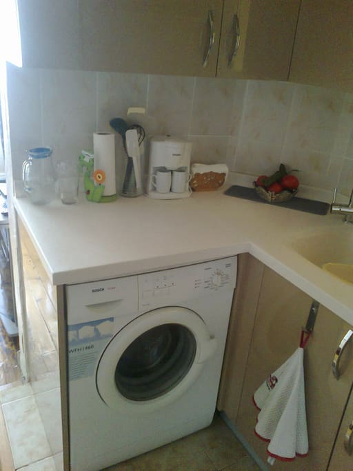 Washer and dryer are available