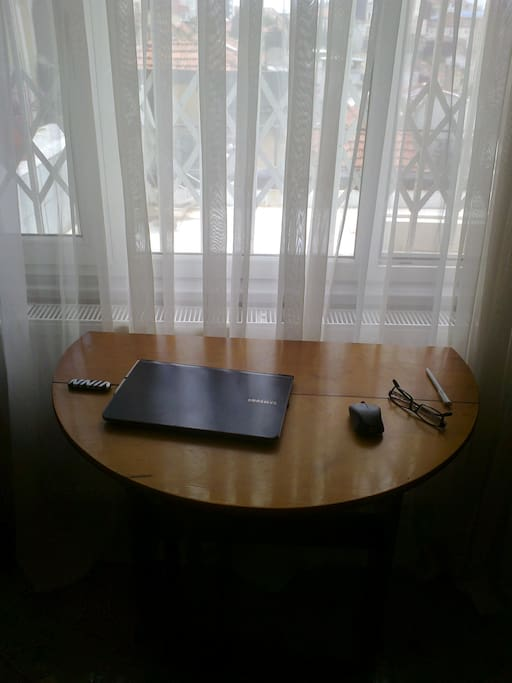 One of the two work desks which can easily be your service tray at the terrace if you like