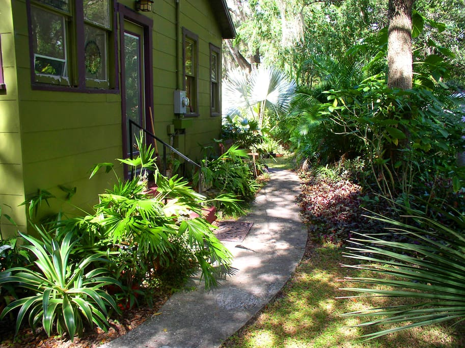 "Your historic cottage private entrance garden is complete with private bench for your ""quite time"" with nature."