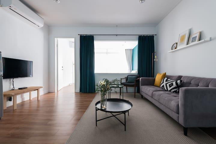 Designer's home in a lively neighborhood