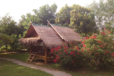 Bamboo house in the garden - Kanchanaburi