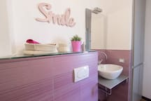 pink bathroom..not only for ladies!