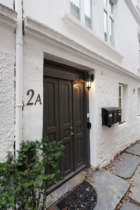 Entrance is located in a secluded quiet alleyway
