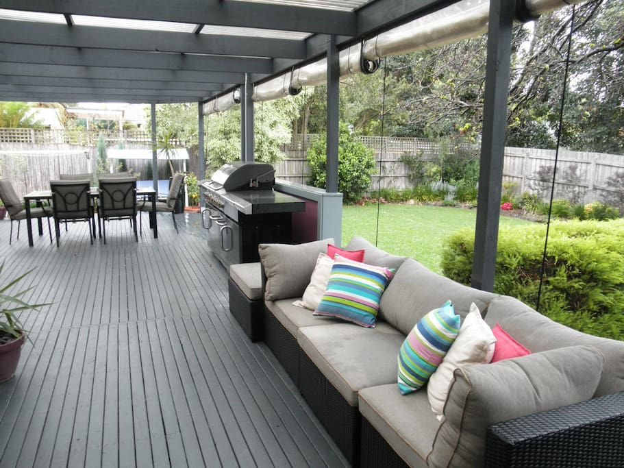 the deck to barbecue & party with my friends