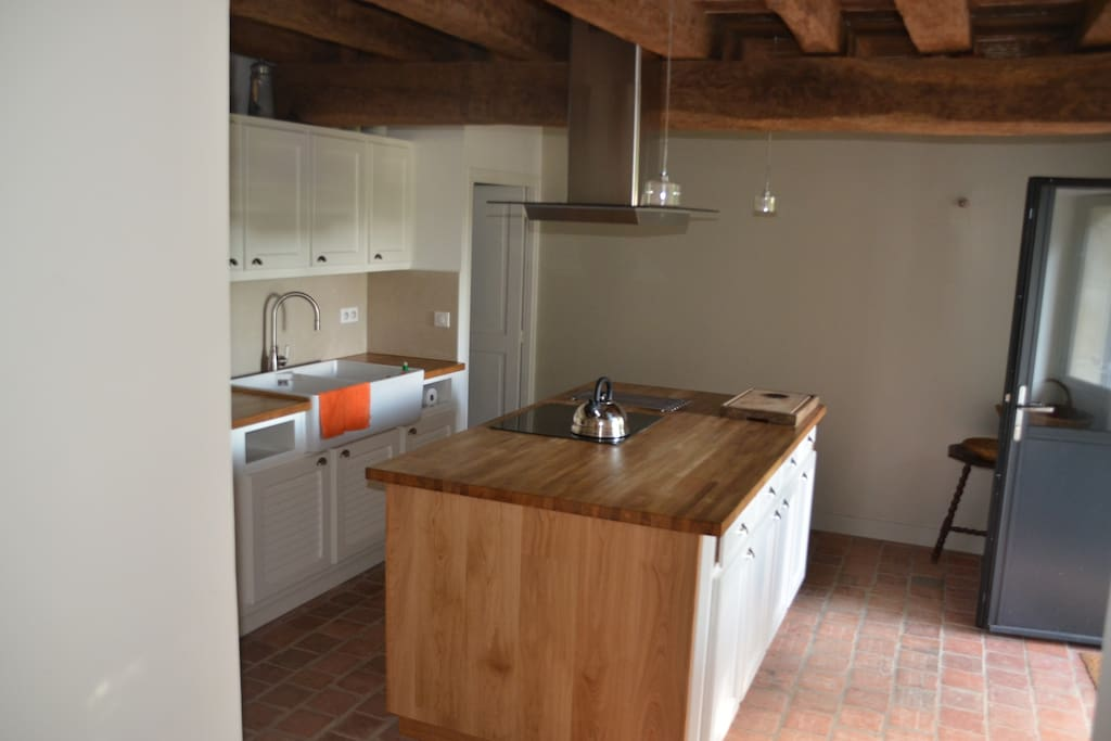 Very spacious and fully equipped kitchen