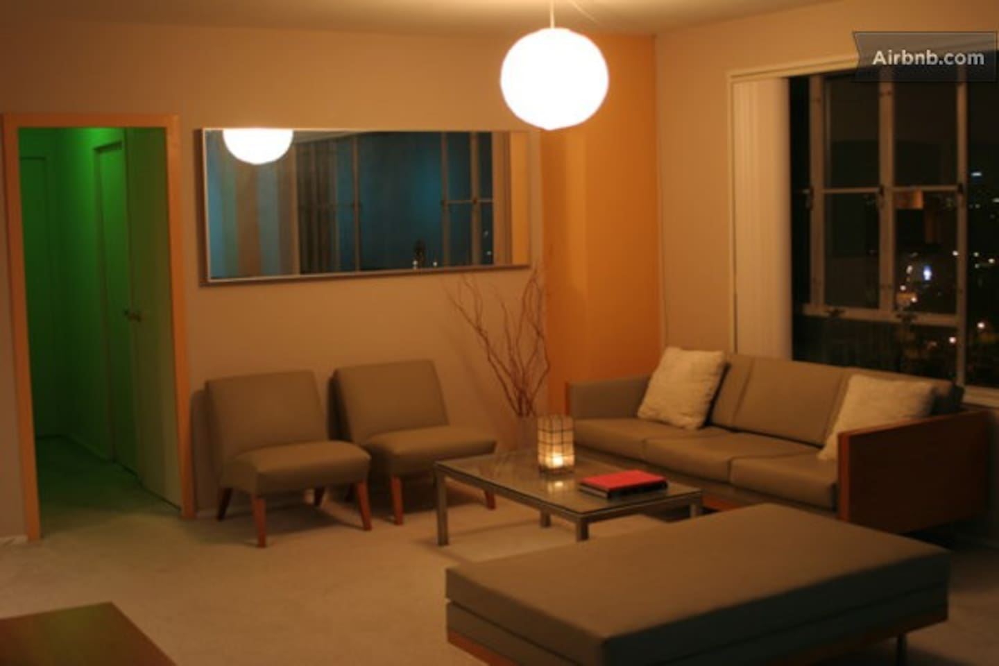 Living room. Modern minimalism style. Clean and peaceful.