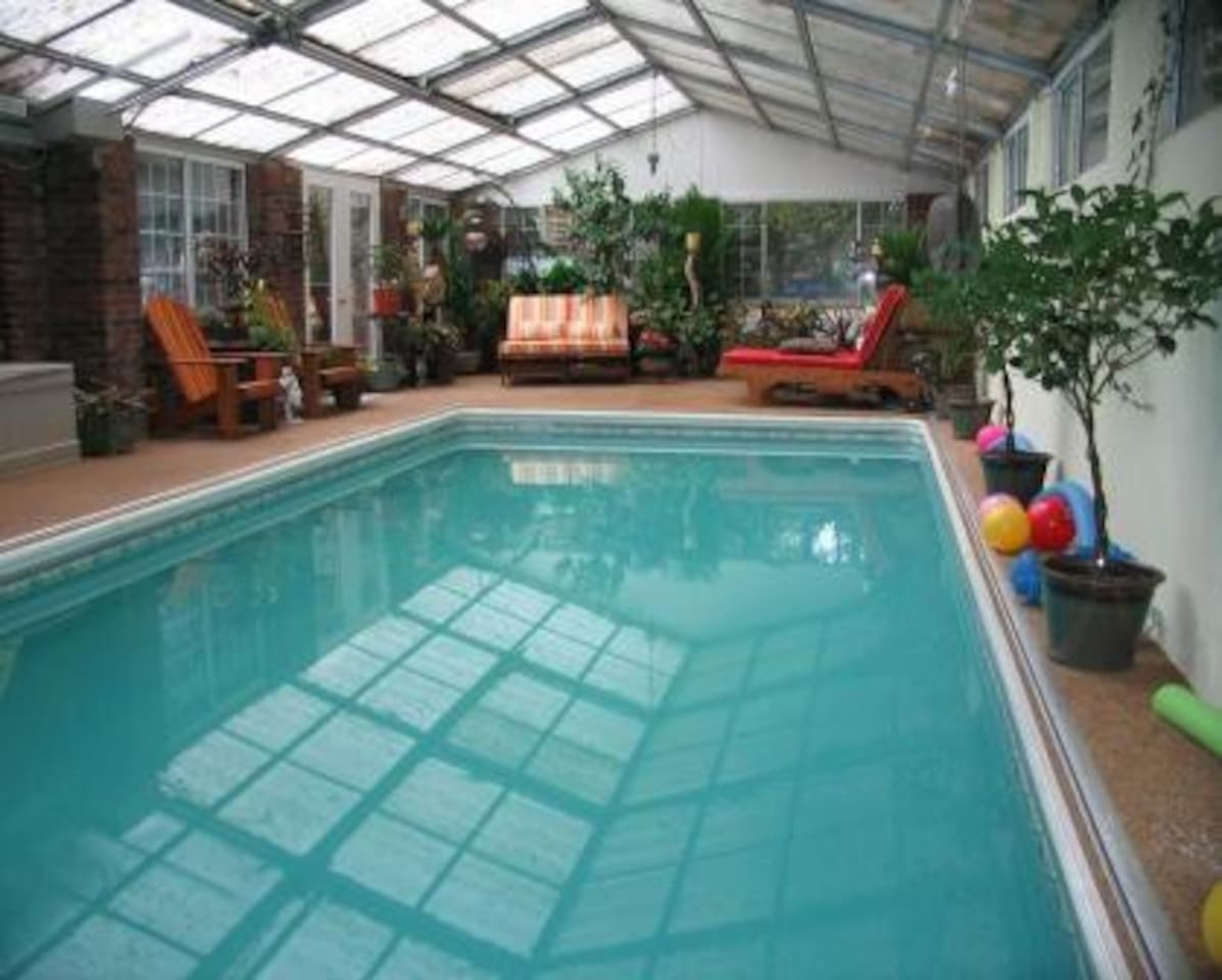 Lush, tropical foliage and a heated pool in which to relax, play water sports or swim laps.