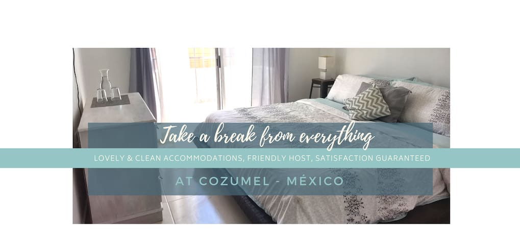 *Brand New* Downtown Cozumel Studio, walk to Pier