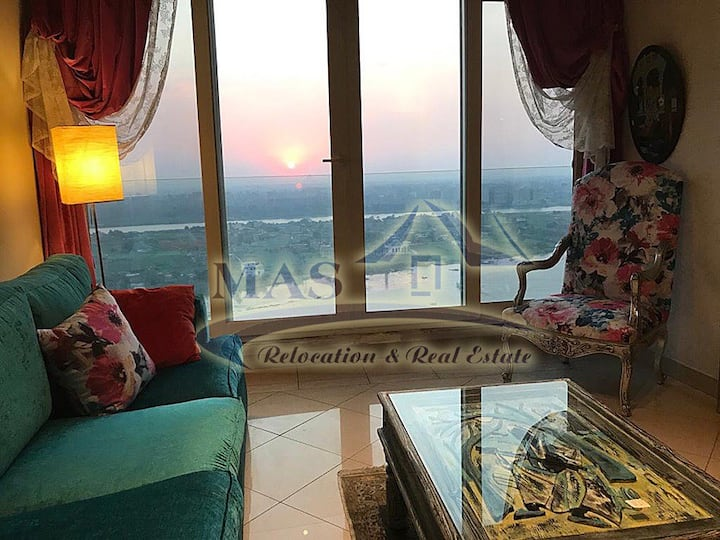 🌟 Beautiful & Clean Nile View Apartment in Cairo