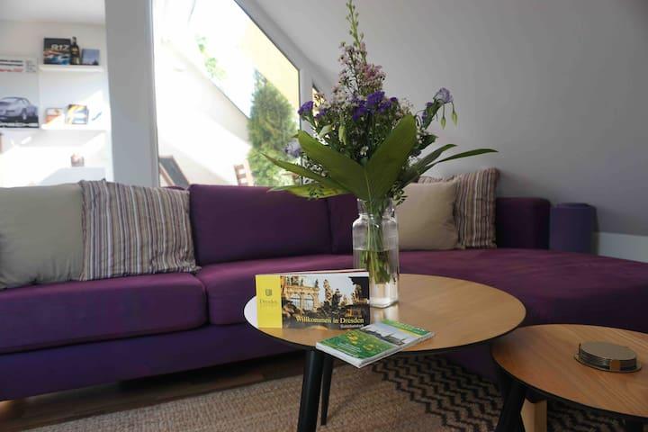 Apartment mit Dachterasse-stylish flat DD Striesen