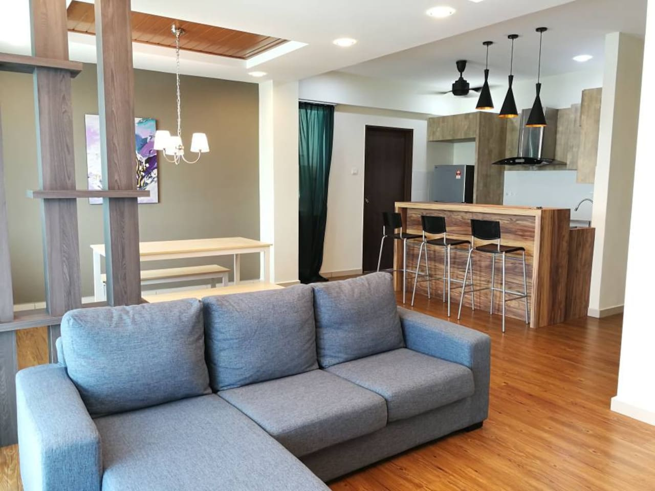 3 bedroom spacious condominium full furnished at Autocity, Penang. 1426 sq feet.