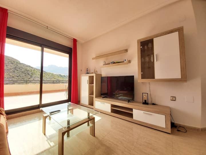 Apartamento en Terreros con terraza y piscina