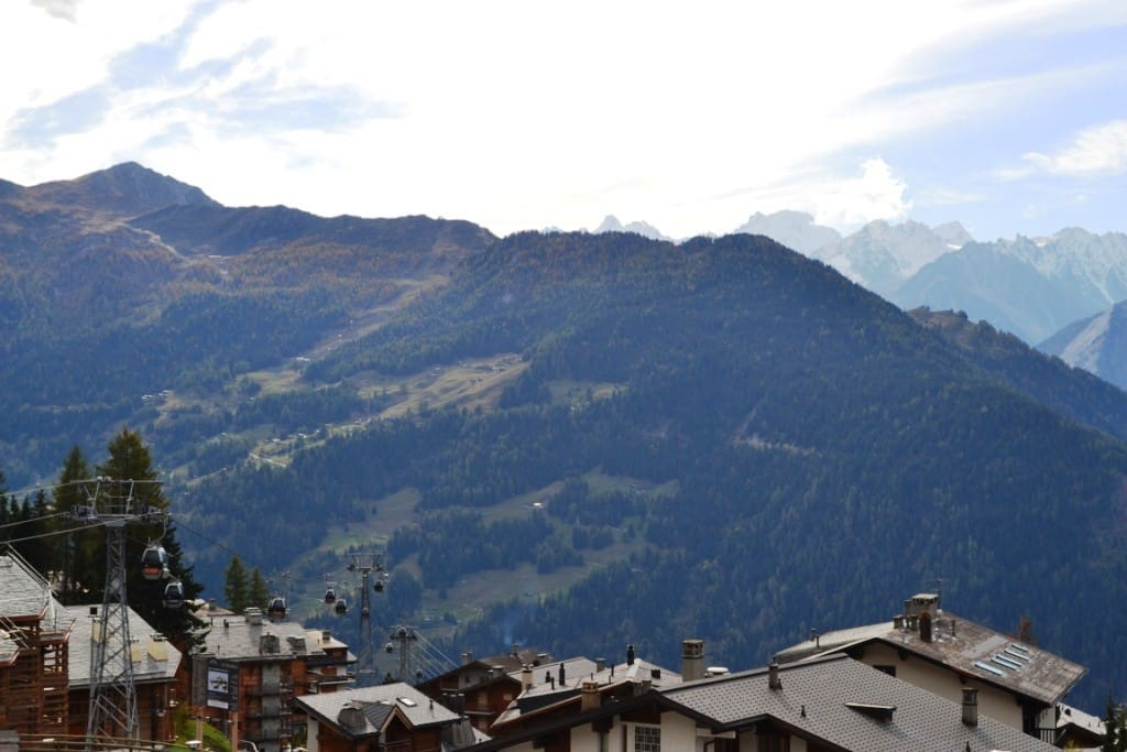 The view of Verbier (cable cars right below!)