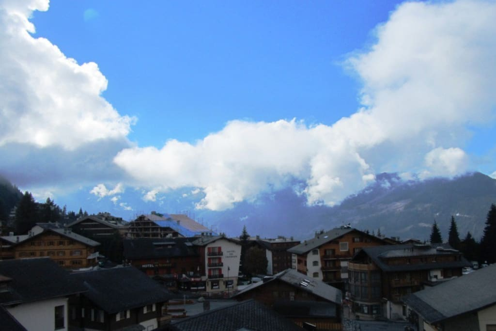 Looking South-East over Verbier towards the Petit Combin
