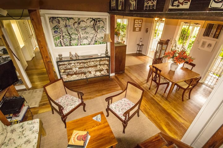 Living and Dining Room of Traditional Barbadian Home
