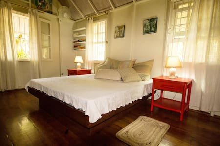 Large Bedroom in Shared B'dos Home - Bridgetown - Hus