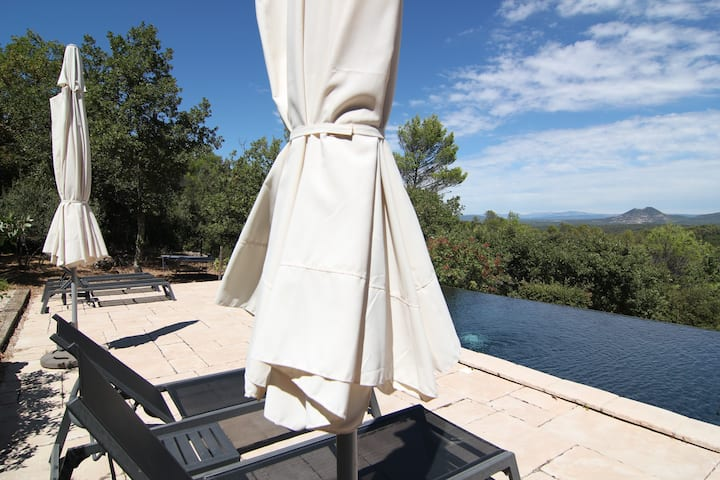 Magnificient view with a pool near Aix-en-Provence