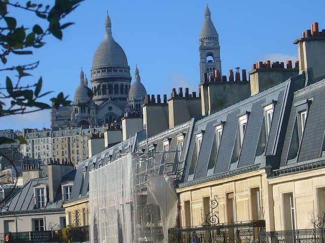 Charming penthouse near Montmartre
