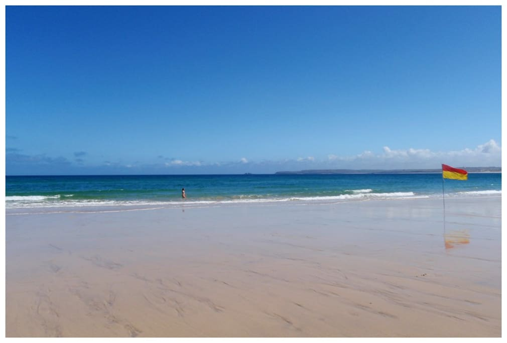 Carbis Bay Beach just 5 minutes walk from the house