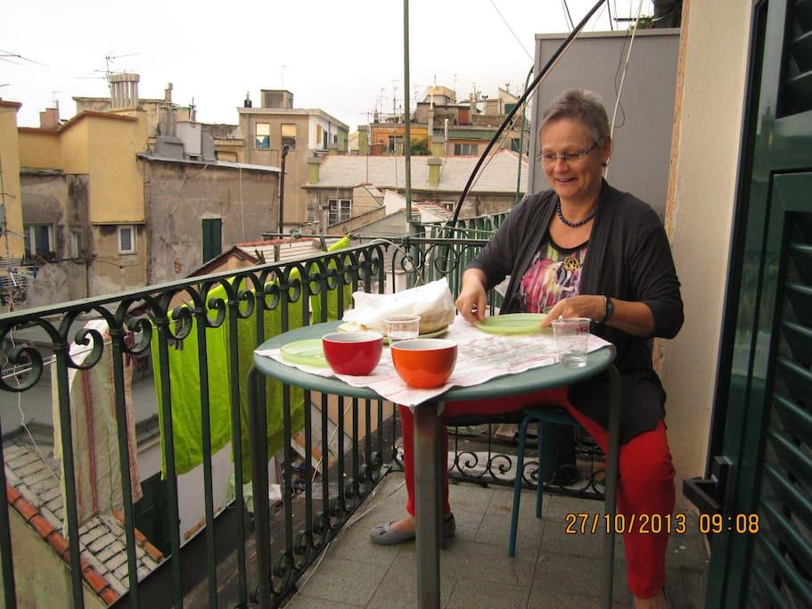 colazione sul balcone
